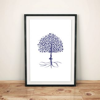 DigitalArt Tree of Life blue dark Ajna 03