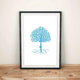 DigitalArt Tree of Life blue light Vishuddha 03