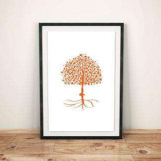 DigitalArt Tree of Life orange Svadhishthana 03