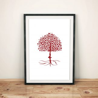 Digital Art Tree of Life red Muladhara 04