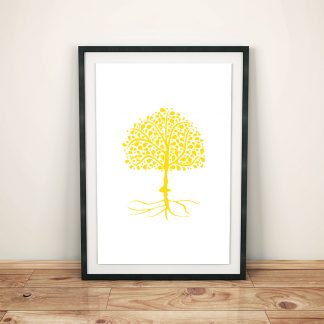 DigitalArt Tree of Life yellow Manipura 03